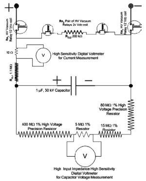 Circuit diagram of the voltage divider, the control relays, current | Download Scientific Diagram