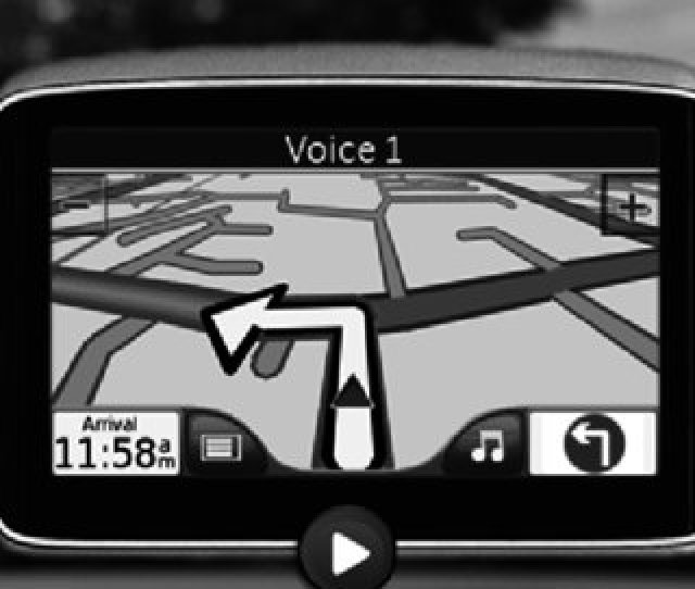 A Typical Page From The Powerpoint Presentation Showing Satnav Driving Scenario And Navigational Controls