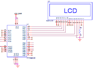 Schematic diagram for microcontroller LCD bus | Download