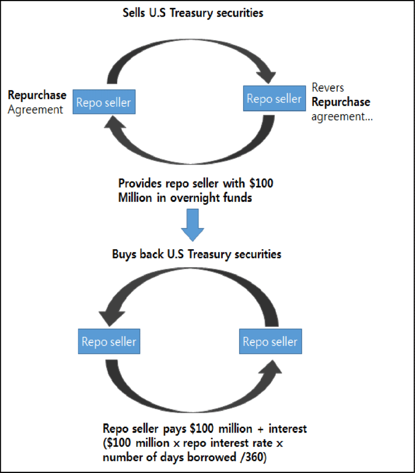 A schematic of an example of a repo transaction. Source ...