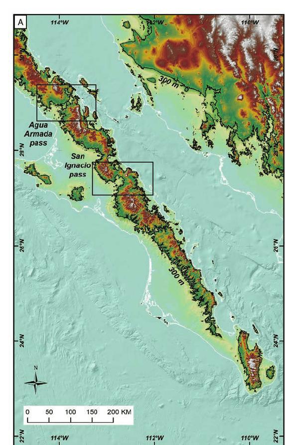 Topographicysis Of Seaways Across The Baja California