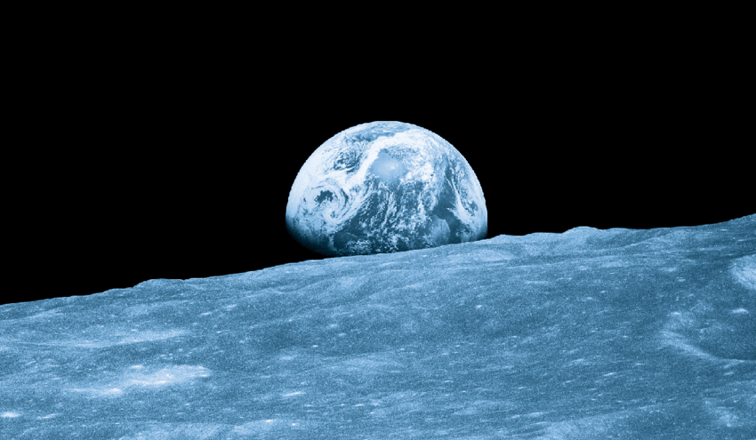 The first photograph taken by humans of Earthrise during the Apollo 8... |  Download Scientific Diagram