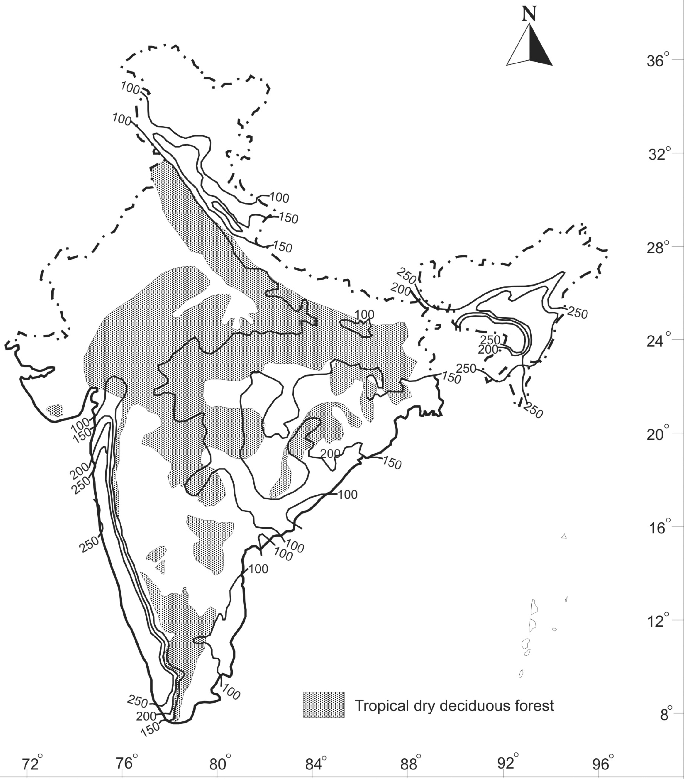 Flowering plants in india, which account for. Potential Distribution Of Tropical Dry Deciduous Forest In India The Download Scientific Diagram