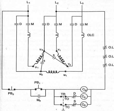 1wiring and control circuit diagram of automatic star