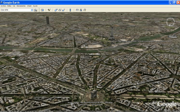 3D view of Paris in Google Earth  including several 3D models of     3D view of Paris in Google Earth  including several 3D models of famous  buildings