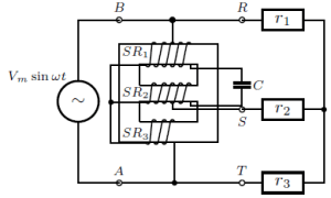 Practical circuit of singlephase to threephase converter