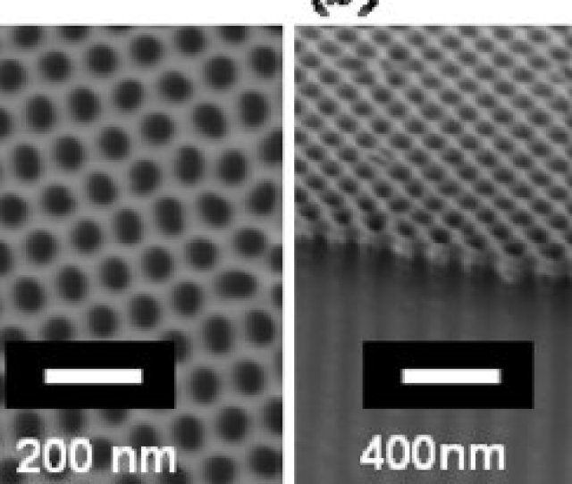 Fe Sem Images Of An Antidot Array Thickness T Py 18 Nm