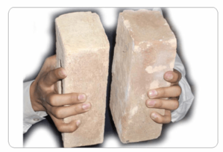 Image result for striking of two bricks with each other