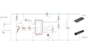Circuit diagram of the Impressed Current Cathodic