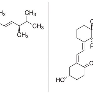 Chemical structures of vitamin D2 (Left) and vitamin D3 ...