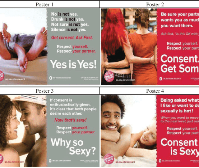 Consent Is Sexy Campaign Posters