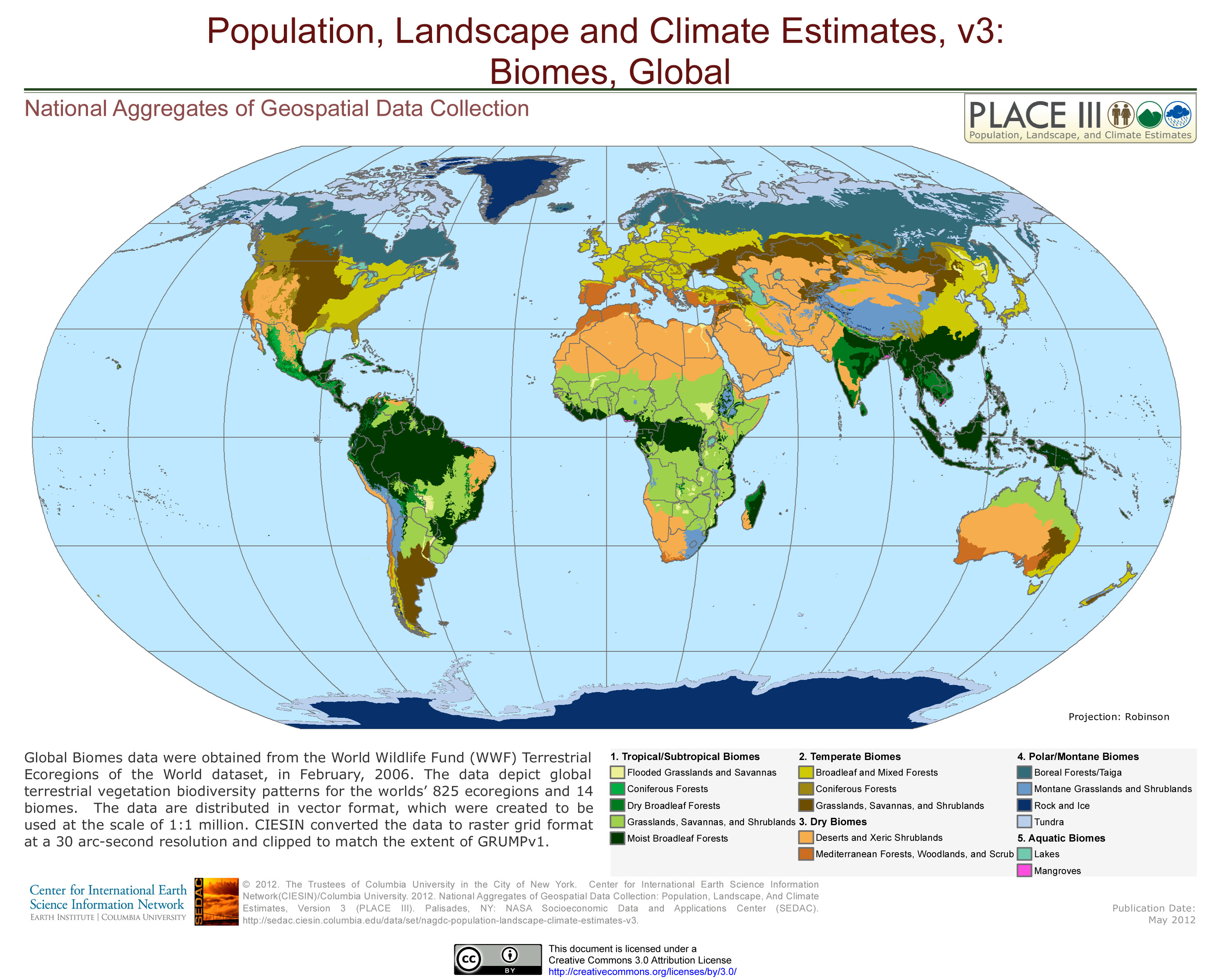 Does Anyone Know Where I Could Find Global Land Surface Area Occupied Per Biome