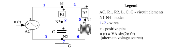 1 a connection diagram of the simple electrical circuit