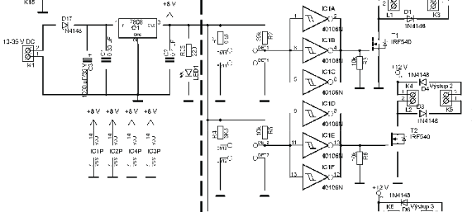 wiring diagram of the electric circuit for motor control