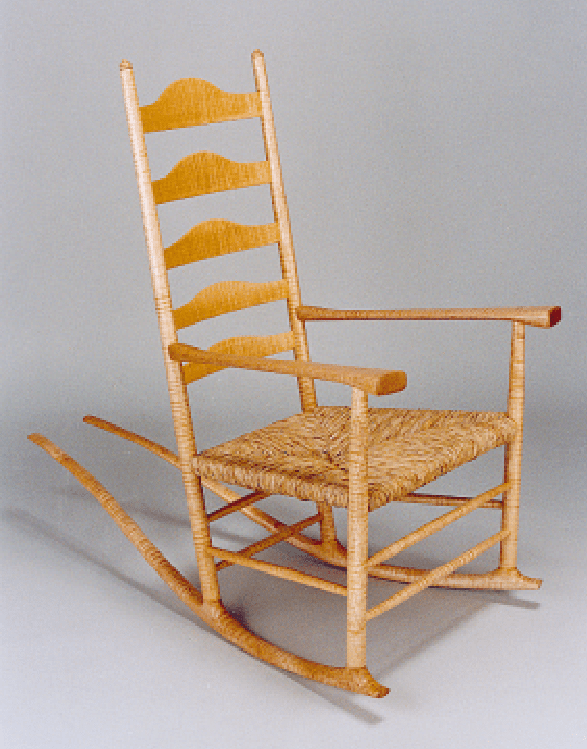 This Bigleaf Maple Rocking Chair Featuring A Bold Curly Pattern In Its Download Scientific Diagram