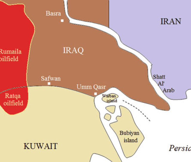 1 The Rumailah Ratqa Oil Fields And The Iraq Kuwait Boundary