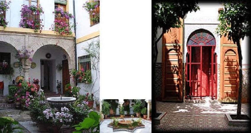 moorish patio houses in cordoba and in