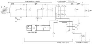 Complete schematic diagram of transformerless gridtie