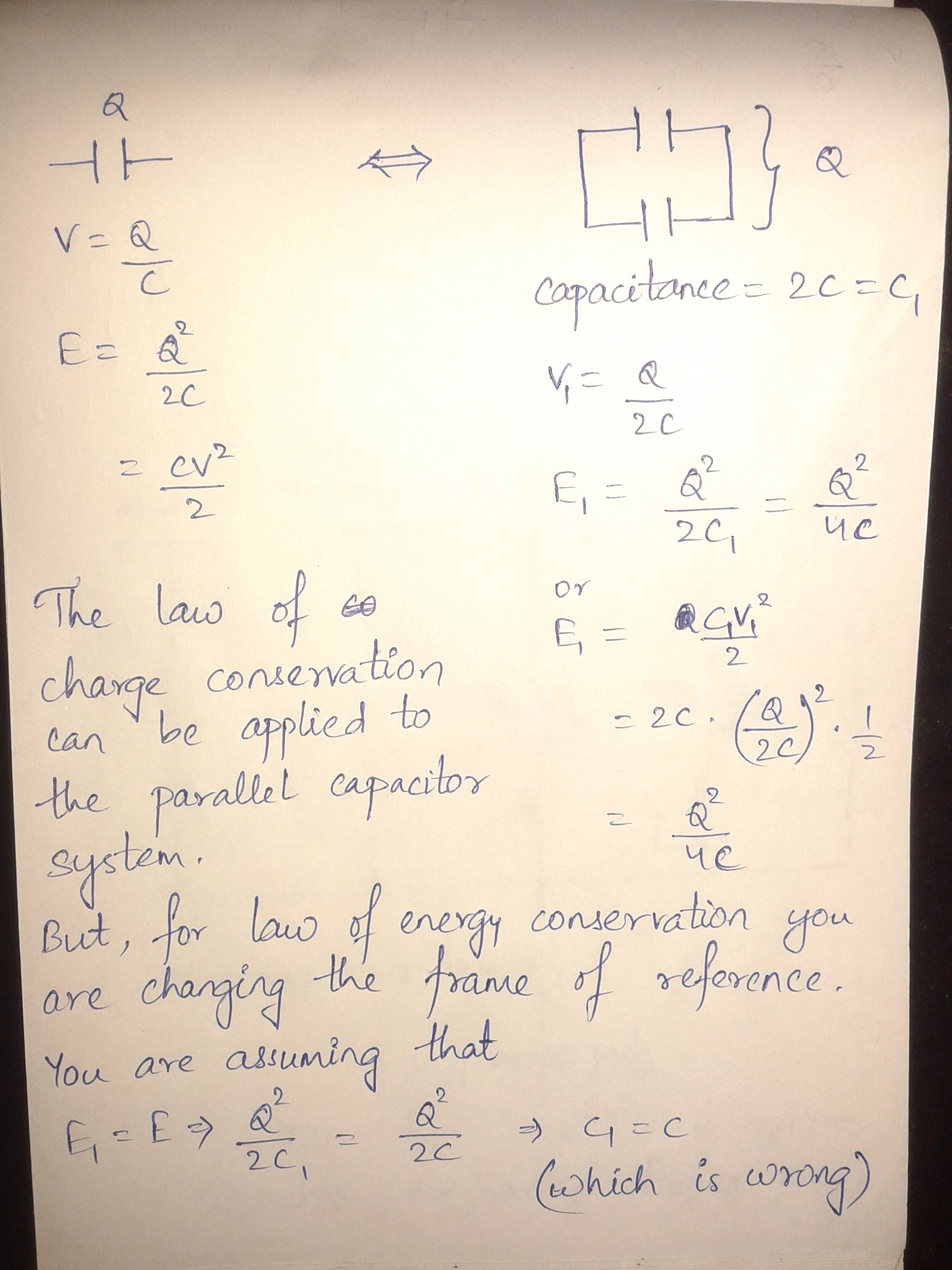 Capacitor Charging Equation With Initial Voltage