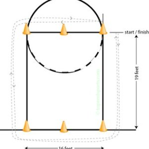 Agility cone or pass drill scheme | Download