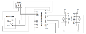 Circuit diagram for connecting the Microcontroller