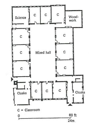 A typical layout plan of a Victorian school (a) and an image of a   Download Scientific Diagram
