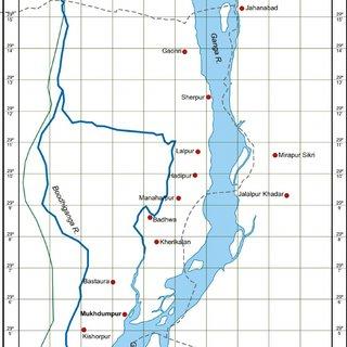 Location map of Hastinapur Wildlife Sanctuary India ...