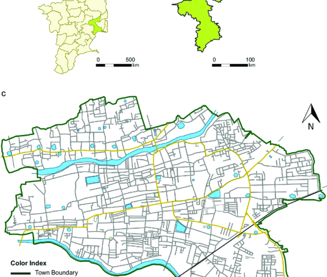 A Tamilnadu State Map Showing Thanjavur District B Thanjavur District Map