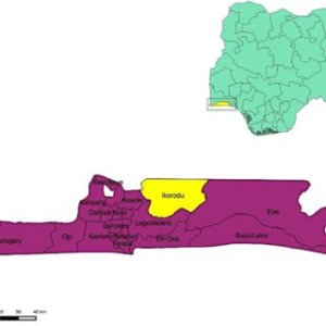 Above: Map of Nigeria showing Lagos State, Below: Map of Lagos State | Download Scientific