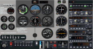 Instrument panel realization of C172 model | Download