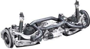 Audi Q7 rear suspension with steering system | Download Scientific Diagram