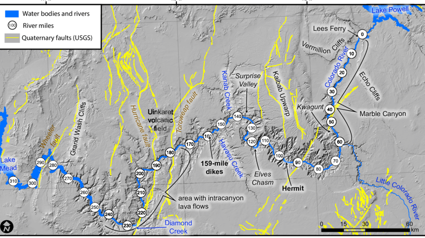 There are so many things to see and do in the grand canyon. Overview Map Showing Grand Canyon Quaternary Faults U S Geological Download Scientific Diagram