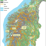 A Map Of Southern Norway With Nordfjella Management Zone 1 And 2 Download Scientific Diagram
