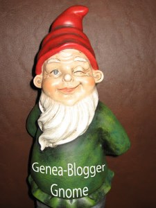The Genea Gnome from GeneaBloggers paid this blog a visit!