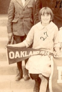 My grandma as young girl going to school in Oakland