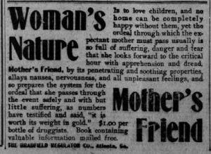 mothersfriend ad 1912