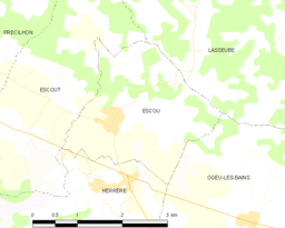 Map of Escou, France