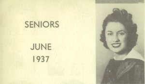 Ellen Figg, Graduate of Fremont High, Oakland, CA, 1937