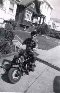 dad on mini bike