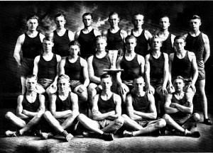 Mission High 1924 Track Team Bourne