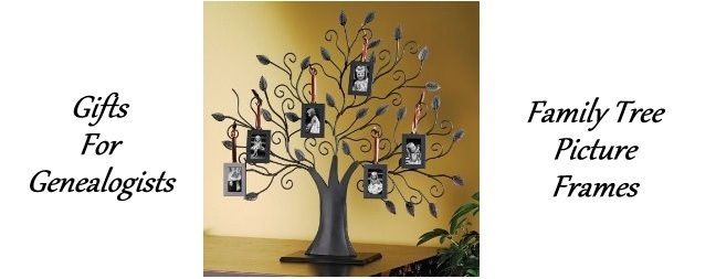 Gifts For Genealogists:  Family Tree Picture Frames Display Your Family Photos Beautifully