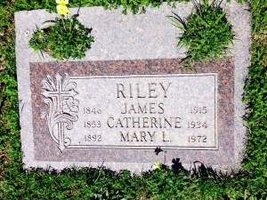 The Riley Tombstone shows that Mary was buried with her parents.