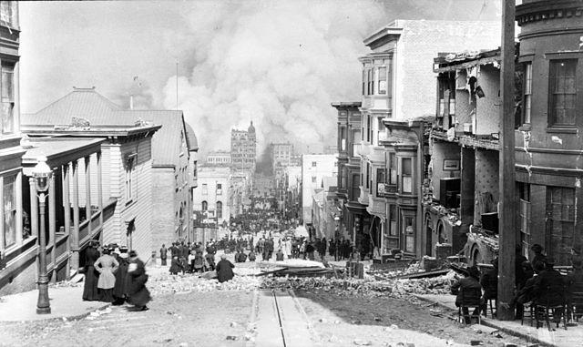 sacramento street san francisco 1906 earthquake