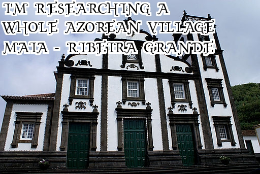 Researching the village of Maia Ribeira Grande Sao Miguel Island Azores