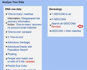 search gedcom gedmatch