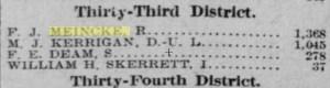 California Assemblyman Frederick Meincke. Source: SF Call 11 Nov 1904