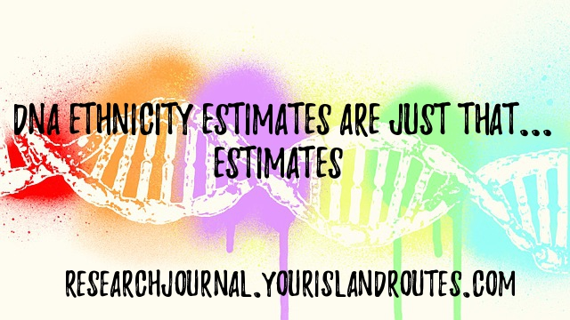 dna esthnicity estimates