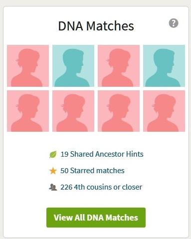 ancestrydna match list