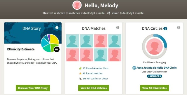 ancestrydna dashboard view