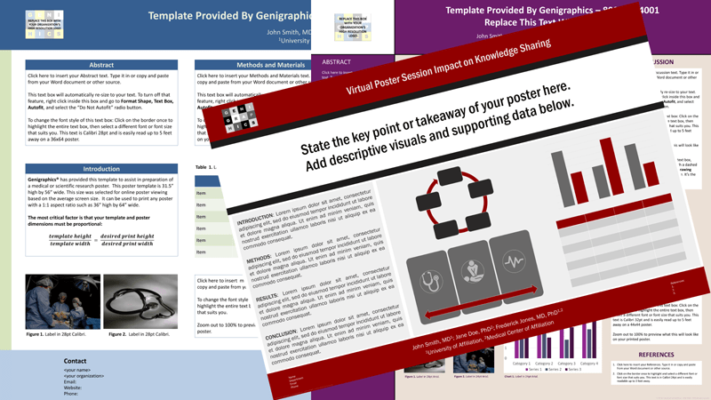 print eposter and virtual poster sessions